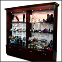 Custom Wall Display Showcases & Cabinets