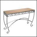 Raw Steel Display Tables