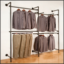 Pipe Outrigger Wall Shelving