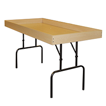 Speciality Tables, folding dump tables, perfect for a retail environment. Wide Variety and Excellent Quality from Creative Store Solutions.