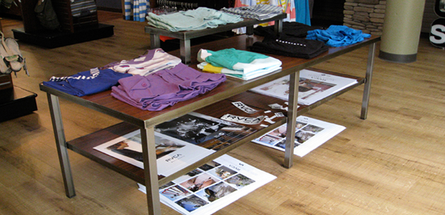 Retail Merchandising Display Tables, from low-cost knockdown units to completely customized displays. Wide Variety & Excellent Quality from Creative Store Solutions.