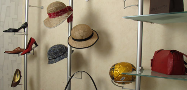 Speciality Rod Displays, Hats, Purses, Sunglasses Displays, Retail Clothing Display Systems, perfect for a retail environment. Wide Variety and Excellent Quality from Creative Store Solutions.
