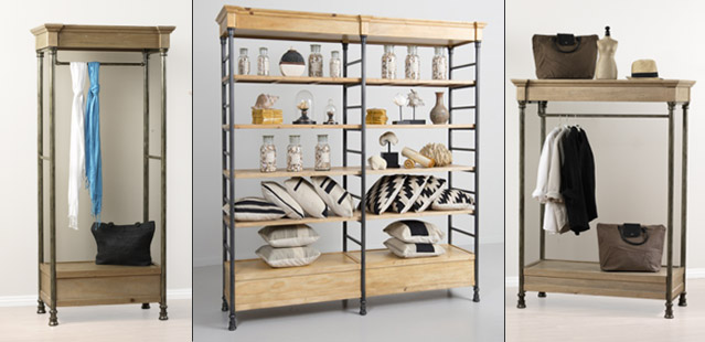Rustic Wall Units and Etageres, Tables & Racks perfect for a retail environment. Wide Variety and Excellent Quality from Creative Store  Solutions.