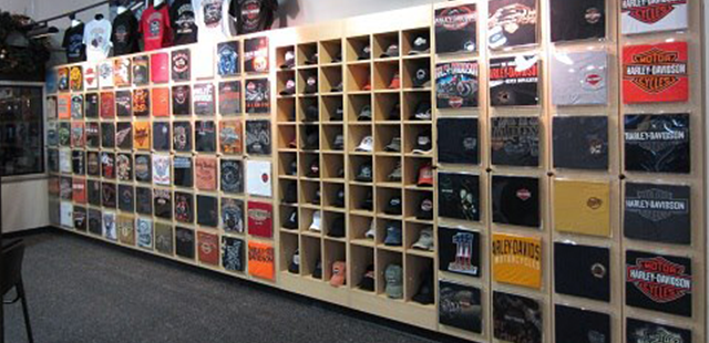 T-Shirt & Ball Cap Fixtures | Custom Cap Wall Cabinet - Creative ...