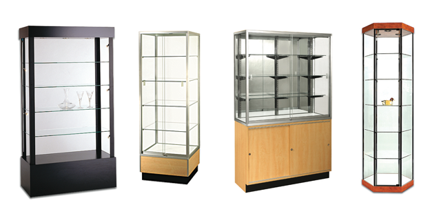 Wall Showcases Towers Cabinets Trophy Cases And Retail Display Perfect For