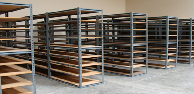Backroom Shelving for Bulk Product Storage, perfect for a retail environment. Wide Variety and Excellent Quality from Creative Store Solutions.
