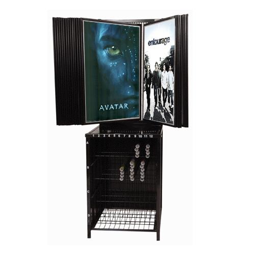 24 Panel Poster Display Movie Poster Rack Flip Through