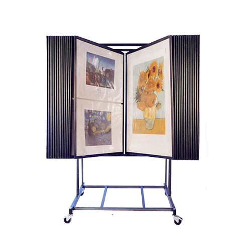 30 Panel Wall Mount Fine Art Display Wall Rack For Art Prints Flip Style Art Stand Creative