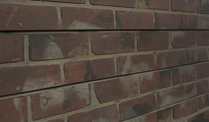 Red Brick Slatwall Panel Textured Brick Slot Wall