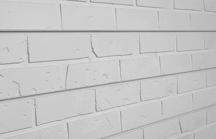 White Brick Slatwall Panels Textured Brick Slatwall