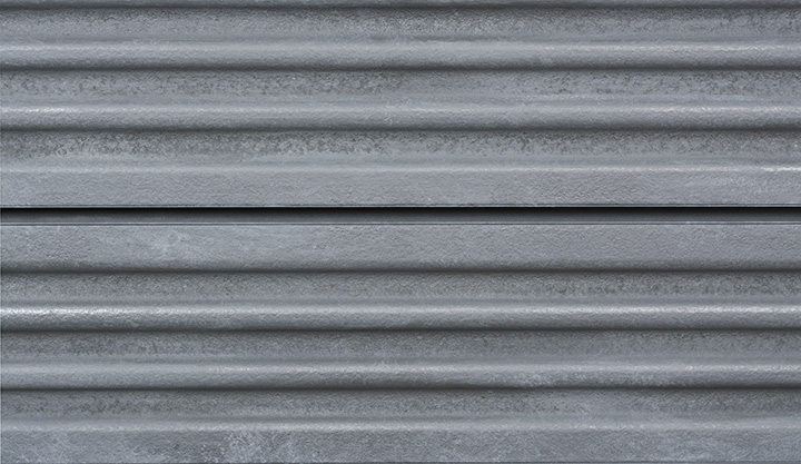 Corrugated Metal Slatwall Panel Textured Slot Wall