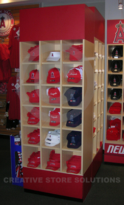 Ball Cap Wall Cabinet Baseball Hat Display Wall Fixture