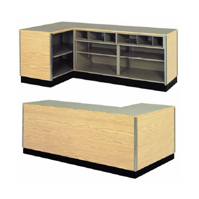 Left Side L Shaped Counter Retail Checkout