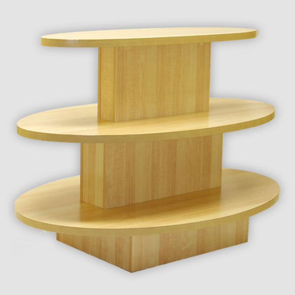 Three Tier Oval Display Table Waterfall Store Table