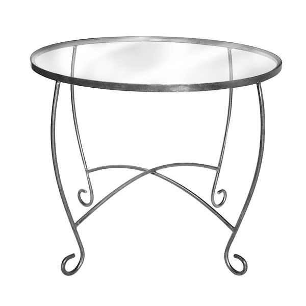 Raw Steel Round Display Table Decorative Metal Retail