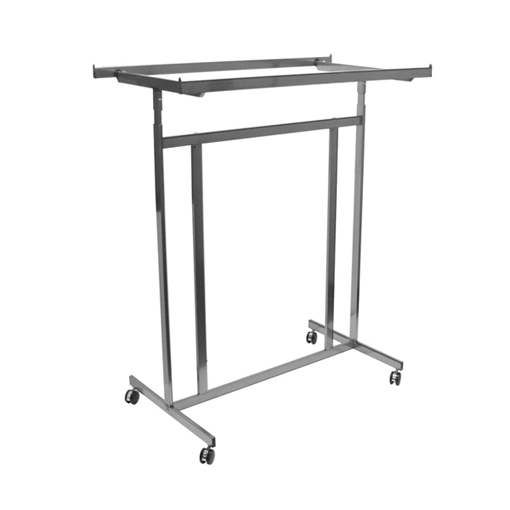 double adjustable rolling garment rack