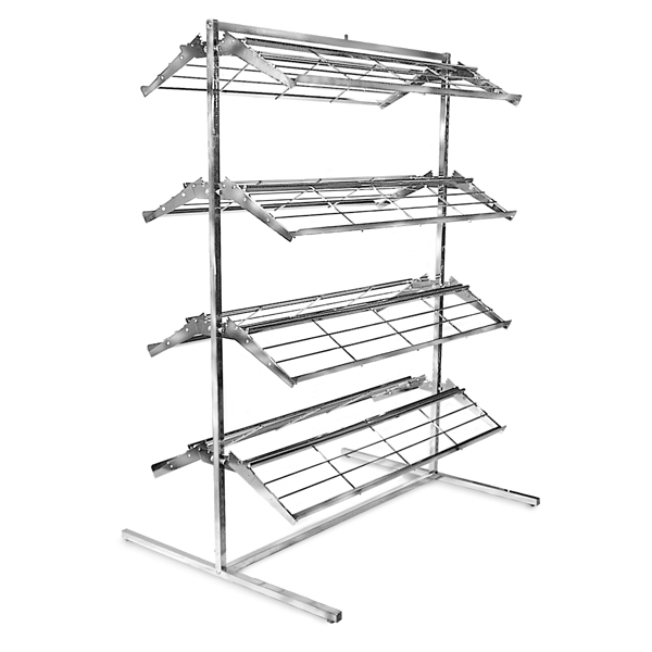 Double Sided Shoe Rack Quot T Quot Style Shoe Display Chrome