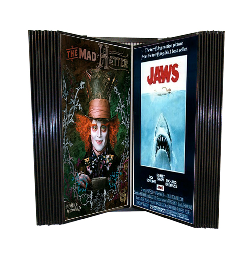 Wall Poster Display Wall Mount Movie Poster Rack Flip