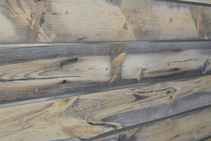Blue Stain Pine Natural Wood Slatwall Panel Textured