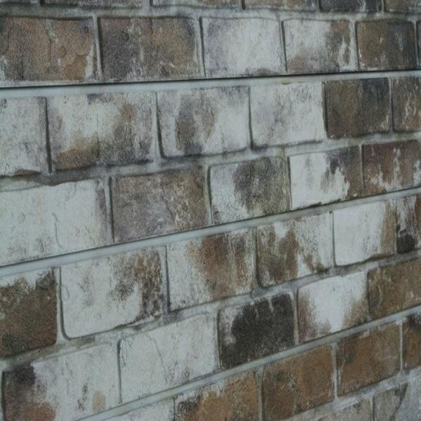 Sandstone Old Painted Brick Slatwall Panel Textured Brick Slot