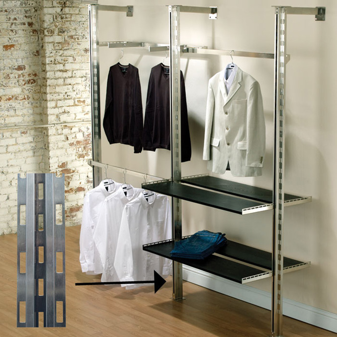 Pearl District Outrigger Posts Slotted Display Standards