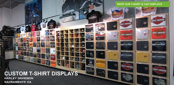 Retail store fixtures counters displays creative for Portable t shirt display