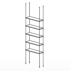 Floor To Ceiling Cable Kit For 5 Gl Shelves