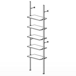 5 Shelf Palo Display System