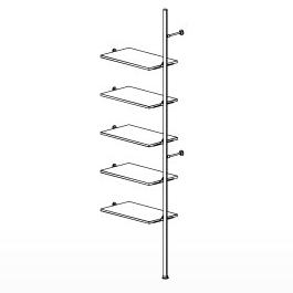 5 Shelf Palo Display System Extension