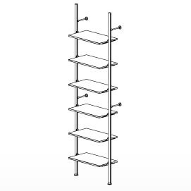 6 Shelf Palo Display System