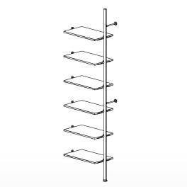 6 Shelf Palo Display System Extension
