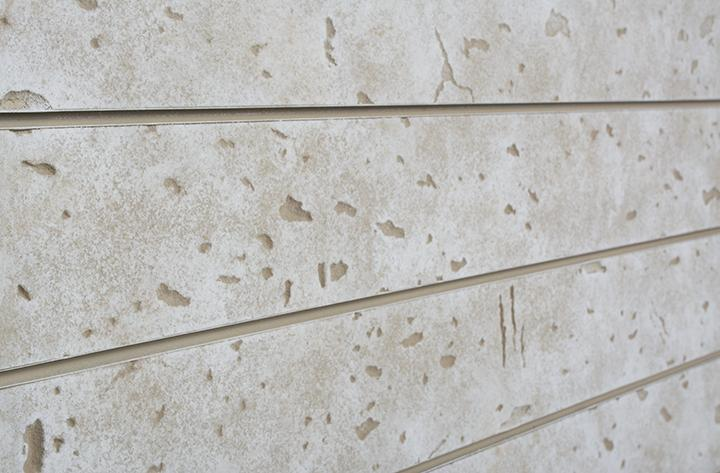 Textured Cement Panels : Cement slatwall panel textured slot masonry