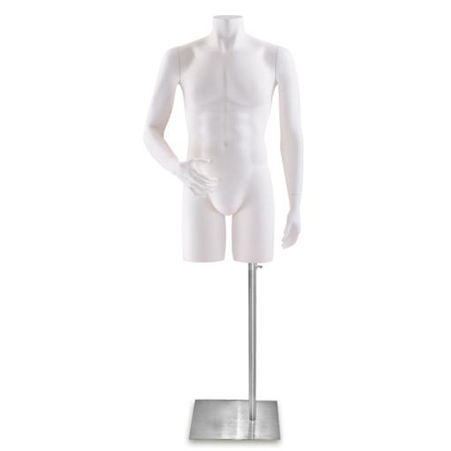 Male Headless Torso Mannequin 3 White Male Torso Form