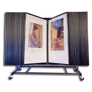 50 Panel Fine Art Display Art Print Rack Flip Thru Art