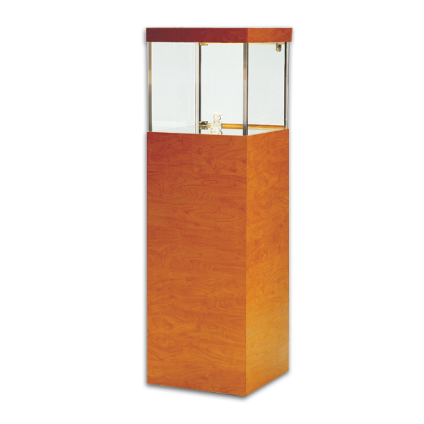 Tecno Square Pedestal Showcase Premium Free Standing