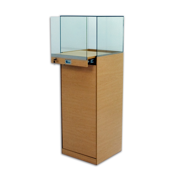 Tecno Pull-Out Square Pedestal Showcase