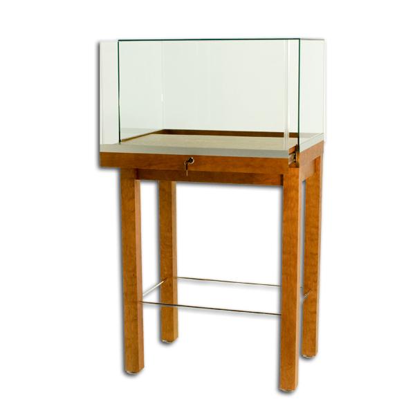 Tecno Wood Veneer Rectangular Pedestal Showcase
