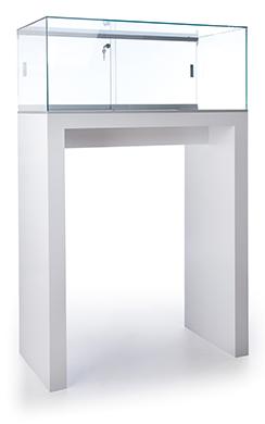 Tecno Large Open Pedestal Showcase