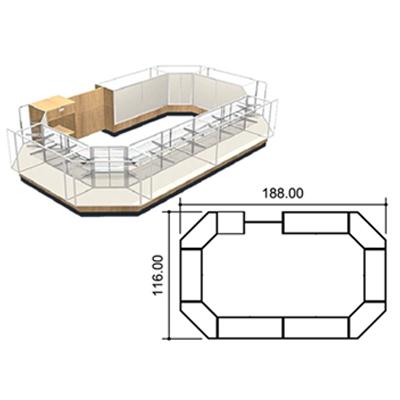 Standard Full Vision Kiosk Layout 1