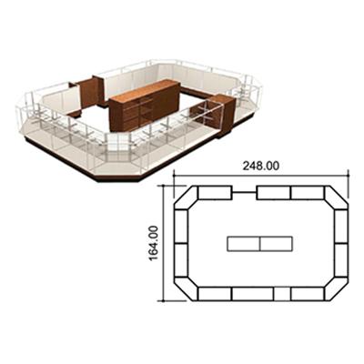 Standard Full Vision Kiosk Layout 2