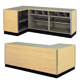 Right Side L Shaped Counter Retail Checkout Counter