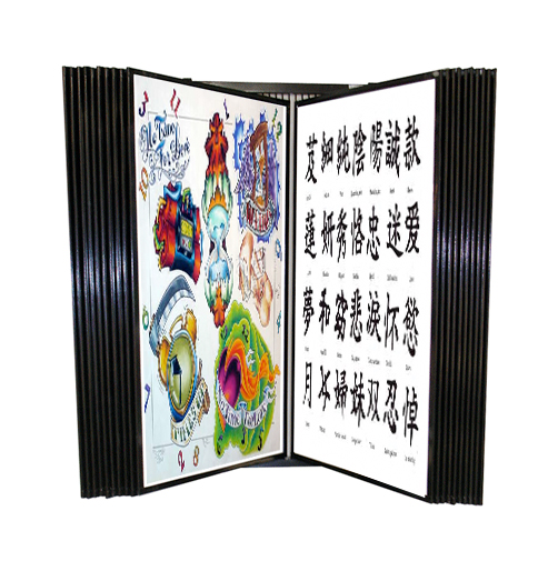 Large Wall Tattoo Flash Display Flash Wall Rack Flip