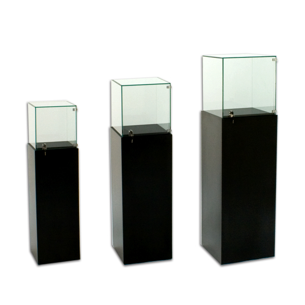 Tecno Square Gallery Pedestal Showcase