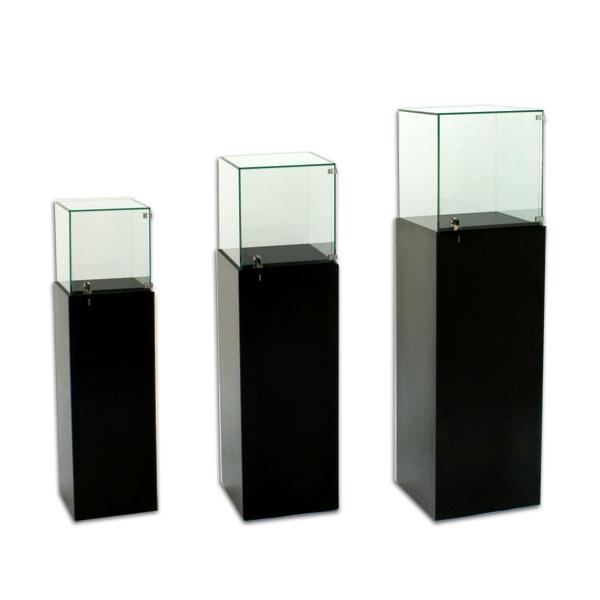 Tecno Square Gallery Pedestal Showcase