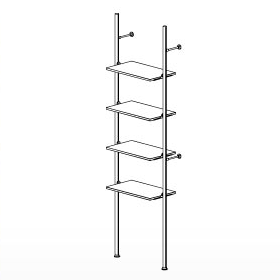 4 Shelf Palo Display System