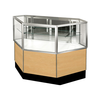 Standard Half View Inside Corner Showcase