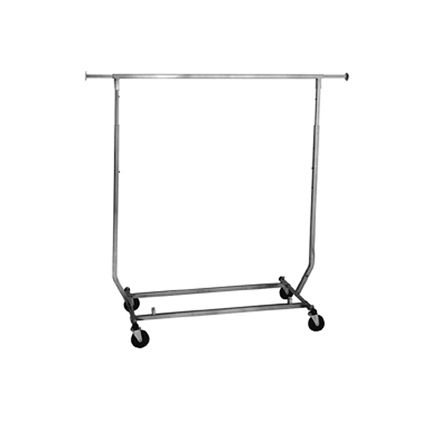 Collapsible Square Tube Rolling Rack | Salesman Rack | Single Bar