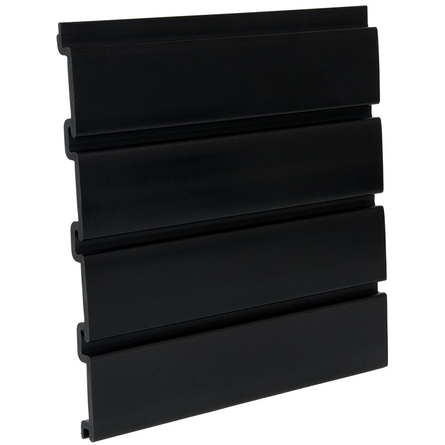 Pvc Black Slatwall Panel