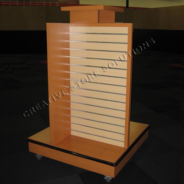 Custom Slatwall Pinwheel 4 Sided Slatwall Display