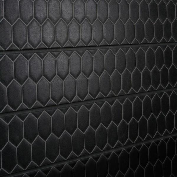 Honeycomb Black Tile Slatwall Panel